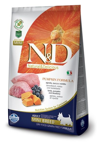 Фармина N&D PUMPKIN LAMB & BLUEBERRY Adult Mini dog 2,5кг