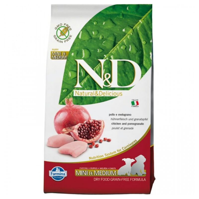 Фармина N&D Dog Chicken & Pomegranate Puppy Small & Medium 2,5кг