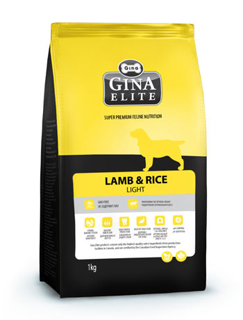Джина Gina Elite Lamb&Rice Light д/собак 3кг