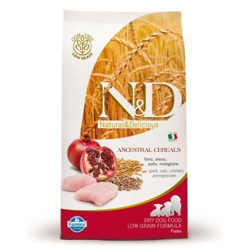 Фармина N&D CHICKEN&POMEGRANTE small/medium/large puppy 0,8кг с низким содержанием зерна курица